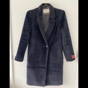 Babaton Stedman Wool Alpaca Coat in Royal Navy